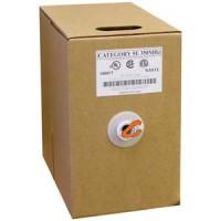 1000Ft Cat.5E Solid Wire Bulk Cable Orange CMR
