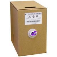 1000Ft Cat.5E Solid Wire Bulk Cable Purple CMR