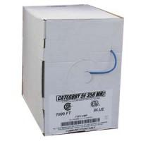 1000Ft Cat.5E Solid Cable Plenum Blue, UL/ETL/CSA