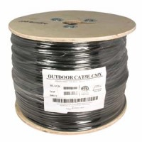 1000Ft Cat.5E Direct Burial Outdoor Cable Gel Type Black