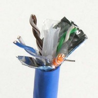1000Ft Cat.6 Solid Wire Bulk Cable Shielded Blue