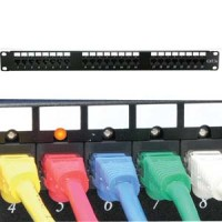 Cat.5E 110 Patch Panel 24Port Rackmount w/LED Indicator