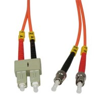 1m ST-SC Duplex Multimode 62.5/125 Fiber Optic Cable