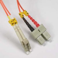 5m LC-SC Duplex Multimode 62.5/125 Fiber Optic Cable