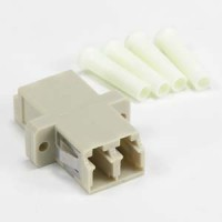 LC-LC Multimode Duplex Optic Adapter Plastic