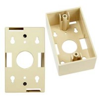 Surfacemount Box for Wall Plate Ivory