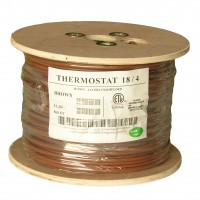 500Ft 18/4 Unshielded CMR Thermostat Cable Solid Copper PVC