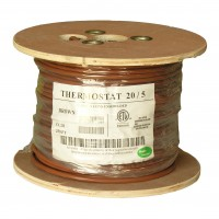 500Ft 20/5 Unshielded CMR Thermostat Cable Solid Copper PVC