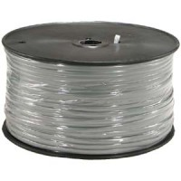 1000Ft 6 Conductor Silver Satin Modular Cable Reel 28AWG