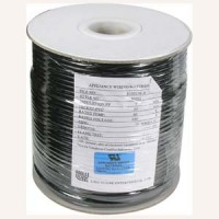 1000Ft UL 4 Conductor Black Modular Cable Reel 26AWG