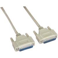 6Ft DB25 M/M Serial Cable 25C Straight