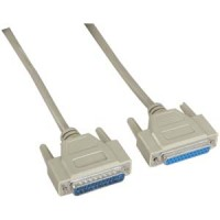 25Ft DB25 M/F Serial Cable 25C Straight
