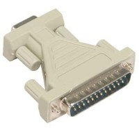 DB9-F/DB25-M Serial Adapter, Thumbscrew(DB25)/Thumbscrew(DB9)