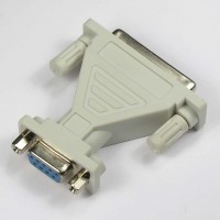 DB9-F/DB25-F Serial Adapter, Thumbscrew(DB25)/Nut(DB9)