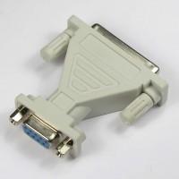 DB9-F/DB25-F Serial Adapter, Thumbscrew(DB25)/Nut(DB9)