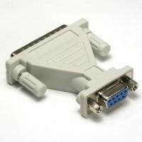 DB9-F/DB25-M Serial Adapter, Thumbscrew(DB25)/Nut(DB9)