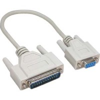 10Ft DB9-F/DB25-M Null Modem Cable