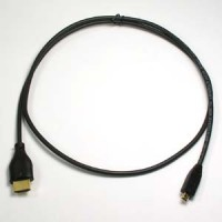 3Ft HDMI A-M to Micro(D)-M Thin Cable High Speed w/Ethernet 36AWG