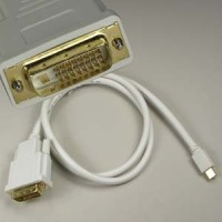 3Ft Mini DP Male to DVI Male Cable