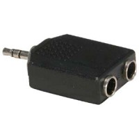 3.5mm Stereo Plug to Dual 1/4 inch Stereo Jack Adapter