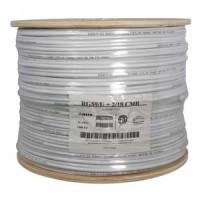 1000Ft RG59 w/2x18AWG Power White CMR