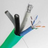 500Ft (Cat.6x2)/(RG6 Quad x2) Combo Cable