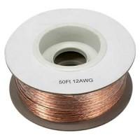 50Ft 12AWG Bulk Polarized Speaker Wire Spool
