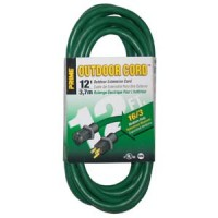 12Ft 16/3 Lawn and Garden Extension Cord