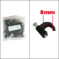 Nail-in Clip for RG6 Black 100pack