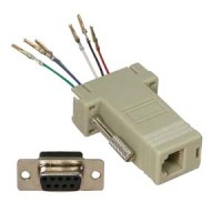 DB9 Female to RJ11/12 (6 wire) Modular Adapter Ivory