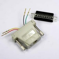 DB25 Male to RJ11 (4 wire) Modular Adapter, Ivory