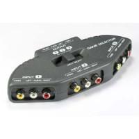 3 Way Audio Video (3RCA) Input Selector
