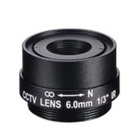 "6.0mm 1 Megapixel Fixed Iris F1.8 1/3"" CS Mount Lens"