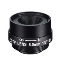 "8.0mm 1 Megapixel Fixed Iris F1.8 1/3"" CS Mount Lens"