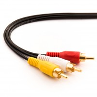 50Ft RCA M/Mx3 Audio/Video Cable Gold Plated