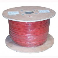 InstallerParts 1000 Ft Cat 6 Stranded Wire Bulk Cable Shielded Red