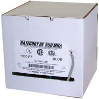 1000Ft Cat.6 Solid Cable Plenum No Spline (CMP) Gray