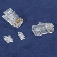 InstallerParts RJ45 Cat 6A Plug Solid 50 Micron 3pc type 100pk