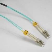 InstallerParts 7m LC-LC 10Gb 50/125 OM3 M/M Duplex Fiber Cable Aqua Jacket