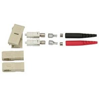 Fiber Optic SC Multimode Duplex 3mm Connector (Red/Black)