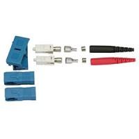 Fiber Optic SC Singlemode Duplex 2mm Connector (Red/Black)