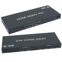 InstallerParts HDMI 4X2 Matrix with IR Remote Control Extension, 3D