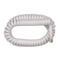 12Ft Coiled Handset Cord, RJ22 (4P4C) White