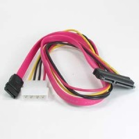 "20"" SATA-7 + SAS-15P to SATA/4-pin Power Cable"