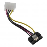 "6"" SATA Power Adapter (15p)  with  Latch  to  AT (4p)  Cable"
