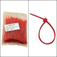 "InstallerParts 4"" Nylon Cable Tie 18lbs Red 100pk"