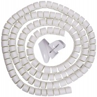 Spiral Cable Zip Wrap White 30mm x 1.5m