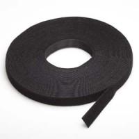 "50Ft 0.8"" Width Velcro Strap Tape Black"