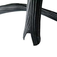 "Self Closing Cable Sock Black 3/4"" (19.05mm) x 50Ft(15.24m )"
