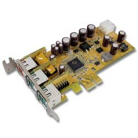 1-Port 24V & 2-Port 12V Powered USB PCI Express Low Profile Add-On Card